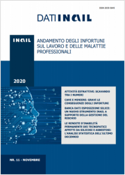 Dati INAIL 11/2020 - Andamento degli infortuni sul lavoro e delle malattie professionali