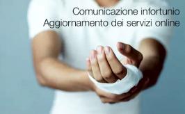 Comunicazione di infortunio | Aggiornamento dei servizi online