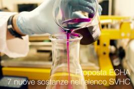 Proposta ECHA: 7 nuove sostanze nell'elenco SVHC