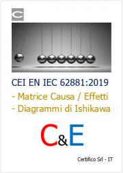 CEI EN IEC 62881:2019 Matrice di causa ed effetto C&E
