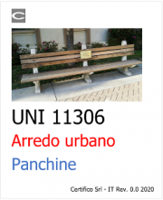 UNI 11306: Arredo urbano | Panchine