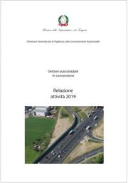 Relazione Vigilanza sulle Concessionarie Autostradali - Anno 2019