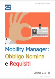Mobility Manager: Obbligo Nomina e Requisiti