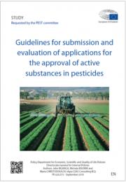 Guidelines applications for the approval of active substances in pesticides