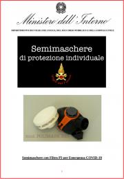 COVID-19: istruzioni per l'uso semimaschere di protezione individuale