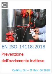 EN ISO 14118:2018 | Prevenzione dell'avviamento inatteso