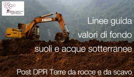 SNPA Delibera 20/2017 - Linee guida valori di fondo suoli e acque