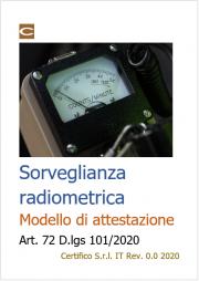 Attestazione sorveglianza radiometrica | Dlgs 101/2020