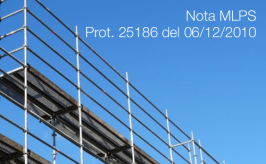 Nota MLPS Prot. 25186 del 06/12/2010