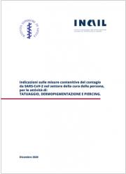 Covid-19 | Documento tecnico prevenzione attività di tatuaggio, dermopigmentazione e piercing