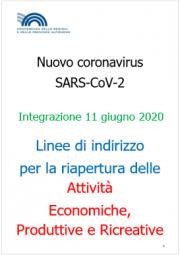 COVID-19 | Linee guida riapertura attività Economiche e Produttive Rev. 11 Giugno 2020