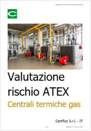 Valutazione del rischio ATEX centrali termiche gas