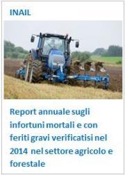 Report annuale infortuni settore agricolo e forestale 2014
