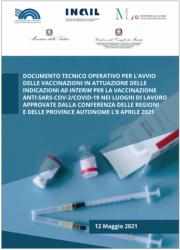 Documento tecnico operativo avvio vaccinazioni nei luoghi di lavoro