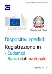 Dispositivi medici: Registrazione in Eudamed e banca dati nazionale