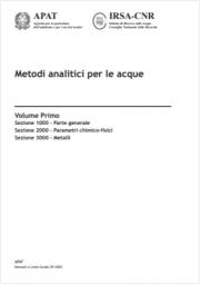 Metodi Analitici per le Acque