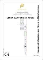 Manuale di Istruzioni per l'Uso e la Manutenzione: Linea cartone in fogli