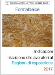 Formaldeide: Indicazione iscrizione registro di esposizione RFVG