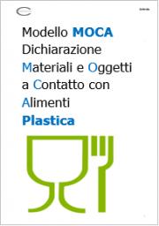 Modello Dichiarazione MOCA materie plastiche