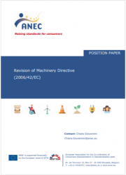Position paper Revision of Machinery Directive 2006/42/EC ANEC