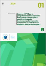 Relazione speciale 01/2020 | Progettazione ecocompatibile - etichettatura energetica