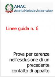 Linee guida n. 6 ANAC