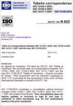 EN ISO 12100 Tabella corrispondenza