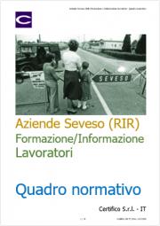Aziende Seveso (RIR) Formazione e Informazione lavoratori | Quadro normativo