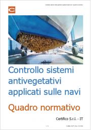 Controllo sistemi antivegetativi applicati sulle navi | Quadro normativo