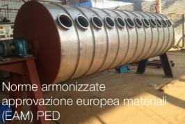 Norme armonizzate nuova Approvazione Europea Materiali (EAM) PED
