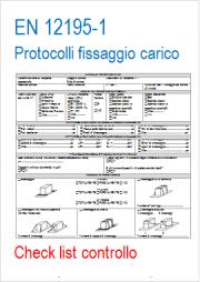 Modelli EN ISO 12195-1 Protocollo fissaggio del carico