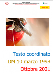 Testo coordinato VVF del DM 10 marzo 1998 - Ottobre 2021