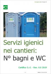 Servizi igienici nei cantieri: Normativa