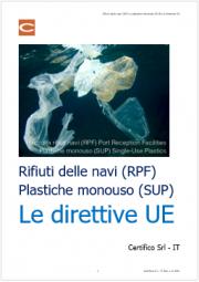 Rifiuti navi (RPF) e plastiche monouso (SUP): le direttive UE