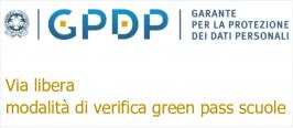 Garante Privacy: Via libera modalità di verifica green pass scuole