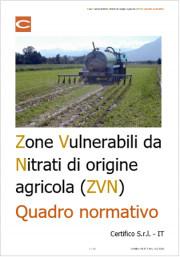 Zone Vulnerabili da Nitrati di origine agricola (ZVN): Quadro normativo e Documenti