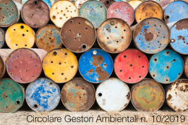Circolare Gestori Ambientali n. 10 del 16 ottobre 2019