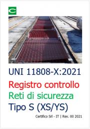 UNI 11808-X:2021 | Registro di controllo reti di sicurezza (Tipo XS / YS)