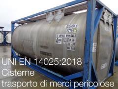 UNI EN 14025:2018 | Cisterne per il trasporto di merci pericolose