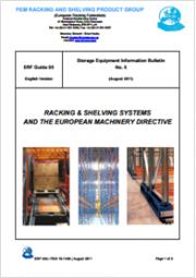 Scaffali e sistemi di scaffalature & Direttiva macchine