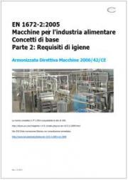 EN 1672-2 Macchine industria alimentare: Requisiti di igiene - Testo requisiti