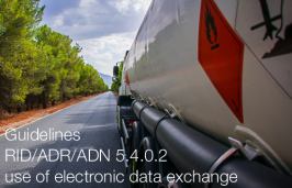 Guidelines for the use of RID/ADR/ADN 5.4.0.2 use of electronic data exchange