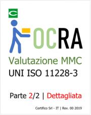 Valutazione rischio MMC ripetitivi ISO 11228-3 OCRA | Dettagliata
