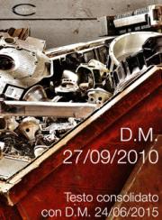 D.M. 27/09/2010 | Testo consolidato