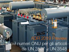ADR 2019 Preview: nuovi numeri ONU per gli articoli