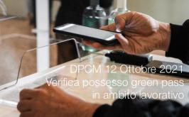 DPCM 12 Ottobre 2021