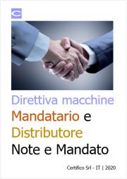 Mandatario e Distributore di macchine: Note e Mandato