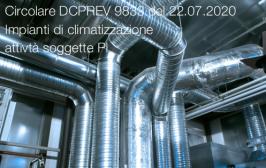 Circolare DCPREV 9833 del 22 luglio 2020