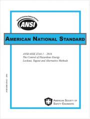 ANSI/ASSE Z244.1 Ed. 2016