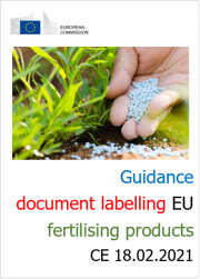 Guidance document labelling EU fertilising products